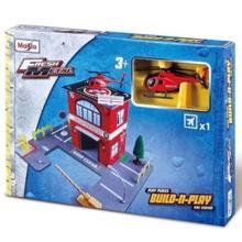 Maisto FM Build Play Police, Fire, Hospital, Restaurant სათამაშო ნაკრები