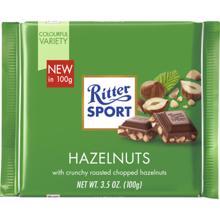 Ritter Sport შოკოლადის ფილა რძით და თხილით 100 გრ