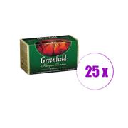 1 შეკვრა შავი ჩაი ერთჯერადი  Greenfleld 25 ც