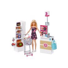 MATTEL Barbie თოჯინა და სუპერმარკეტი