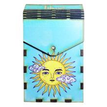 Tibox • ტიბოქს ხის ყუთი Taro cards sun