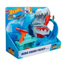 MATTEL Hot Wheels Racing Track Set City Robo Shark Frenzy სათამაშო ტრასა