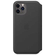 Apple Leather Folio for iPhone 11 Pro Black ქეისი