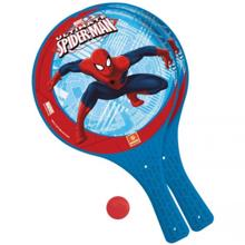 MONDO Plastic Beach Tennis Shovels&ball Spiderman ტენისის ჩოგანი