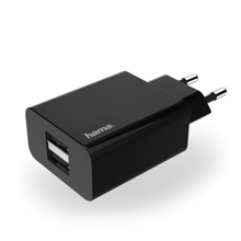 Hama 178267 Charger 2 x USB  2.1A Black ადაპტერი