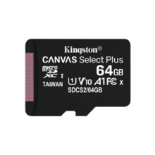 KINGSTON Canvas Select Plus 64GB მეხსიერების ბარათი