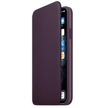 Apple Leather Folio for iPhone 11 Pro Max Aubergine ქეისი