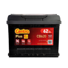 Centra აკუმულატორი Centra PLUS  CB620 62 A/h DIN