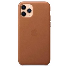 Apple Leather Case for iPhone 11 Pro Saddle Brown ქეისი