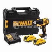 Dewalt აკუმულატორის დრელი-სახრახნისი უნახშირო DeWalt DCD708D2T-QW 18V