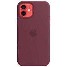 Apple iPhone 12/12 Pro Silicone Case with MagSafe Plum მობილურის ქეისი