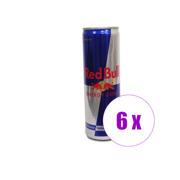 6 ქილა ენერგეტიკული სასმელი RED BULL 0.250 ლ