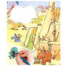 Scribble down ფურცელზე გადამყვანი სტიკერები Transferred Stickers Wild Adventure