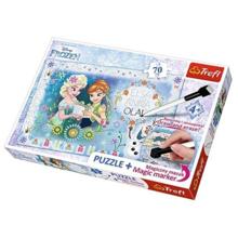 TREFL Puzzles 70 Frozen Anna Elsa With Marker ფაზლი