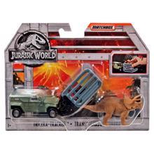 MATTEL Jurassic Attack დინოზავრი და მანქანა