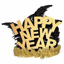 აბადოკი ოქროსფერი ბუმბულებით Happy New Year