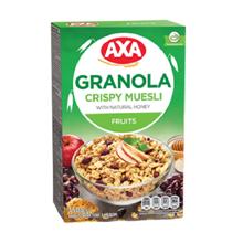 AXA ხრაშუნა მიუსლი ხილით და თაფლით 150 გრ