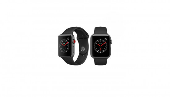 SAMSUNG სმარტ საათი Apple Watch Series 3 42mm Space Gray Aluminum Case Black Sport Band