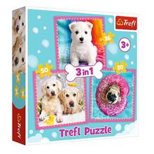 """TREFL """"3 in 1"""" - Dogs in the bath ფაზლი"""