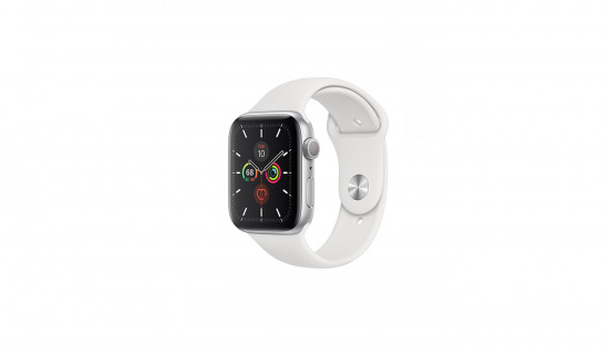 HIPER სმარტ საათი Apple Watch Series 5 44mm Silver Aluminum Case White Sport Band GPS MWVD2