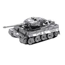 Metal Earth Tiger I Tank რკინის ასაწყობი მოდელი