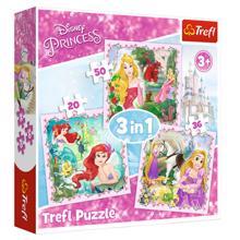 "TREFL ""3 in 1"" - Rapunzel, Aurora and Ariel / Disney Princess ფაზლი"