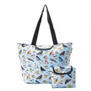 Eco Chic Blue Wild Birds Large Cool Bag - ჩანთა