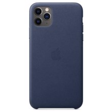 Apple Leather Case for iPhone 11 Pro Max Midnight Blue ქეისი