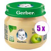 5 ქილა პიურე ვაშლით Nestle Gerber 80 გრ