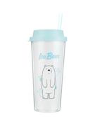 ჭიქა საწრუპით (550მლ)/We Bare Bears Double-layer Straw Bottle 550ml(Ice Bear)