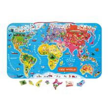 Janod Magnetic World Map Puzzle ფაზლი