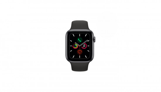HIPER სმარტ საათი Apple Watch Series 5 44mm Space Gray Aluminum Case Black Sport Band GPS MWVF2