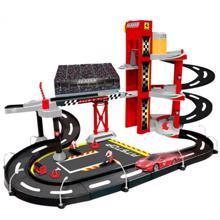 Bburago სათამაშო ტრასა მანქანით 1/43 Ferrari R&P Racing Garage
