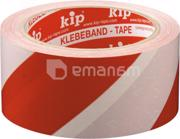 Kip ლენტი PVC წებვადი გამაფრთხ  თეთრ-წით. Kip 5х50м