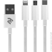 2E-CCMTLAB-WT USB 3 in 1  მობილურის კაბელი