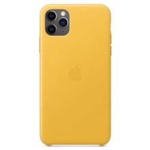 Apple Leather Case for iPhone 11 Pro Max Meyer Lemon ქეისი