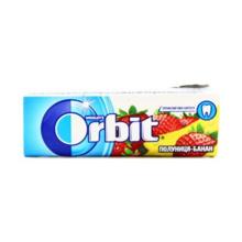 Orbit საღეჭი რეზინი მარწყვის და ბანანის არომატით 10 გრ
