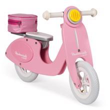Janod Retro scooter pink ხის სკუტერი