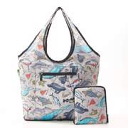 Eco Chic Grey Sea Creatures Weekend Bag - ჩანთა
