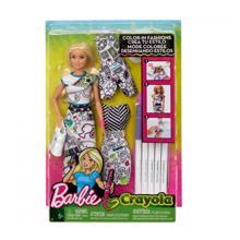 MATTEL Barbie თოჯინა გასაფერადებელი ტანისამოსით