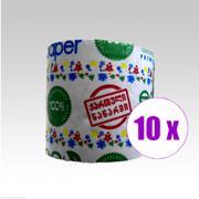 10 ცალი ტუალეტის ქაღალდი ეკო ფეიფერი