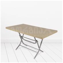 COMFORT-TIME პლასტმასის მაგიდა მეტალის ფეხით