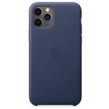 Apple Leather Case for iPhone 11 Pro Midnight Blue ქეისი