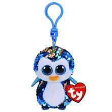 TY sequin blue penguin clip ბრელოკი