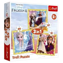 "TREFL ""3 in 1"" - The power of Anna and Elsa / Disney Frozen II ფაზლი"