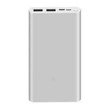 Xiaomi Mi Power Bank 3  Silver 10000mAh პორტატული დამტენი