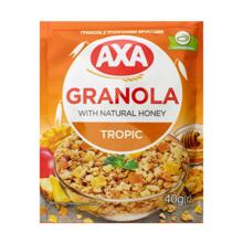 AXA ხრაშუნა მიუსლი თაფლით და ტროპიკული ხილით 40 გრ