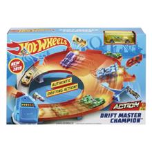 MATTEL Hot Wheels Vehicle Drift Master Champion Track Playset  სათამაშო ტრასა
