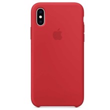 Apple Silicone Case for iPhone XS Red ქეისი