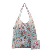 Eco Chic Blue Owl Shopper ჩანთა